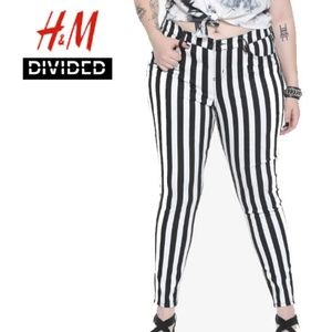 Divided by H&M Black & White Skinny Jeans